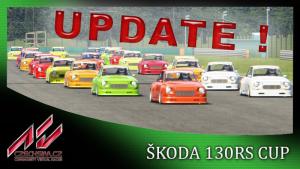 Update Škoda 130RS 1979 - 1981 Cup v1.3 a update skinů pro Czechsim