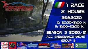 1. Race World Challenge Europe Rachotservis Serie B Monza